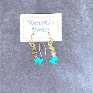 Mermaid Silver Dangle Earrings
